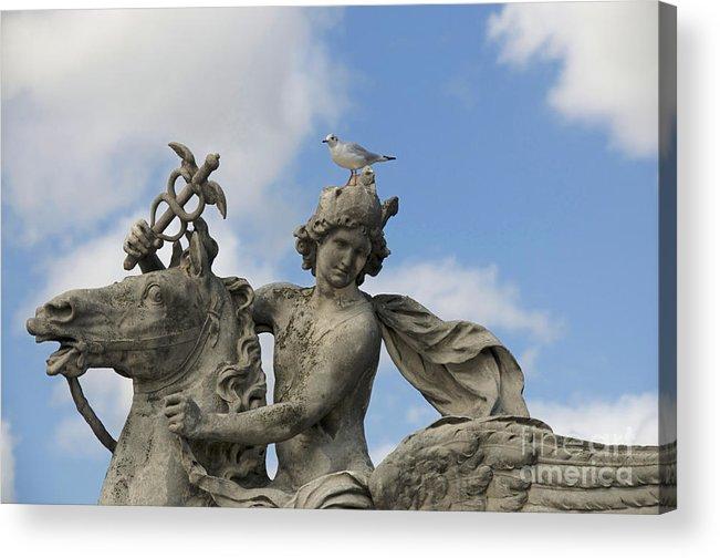 Paris Acrylic Print featuring the photograph Statue . Place De La Concorde. Paris. France by Bernard Jaubert