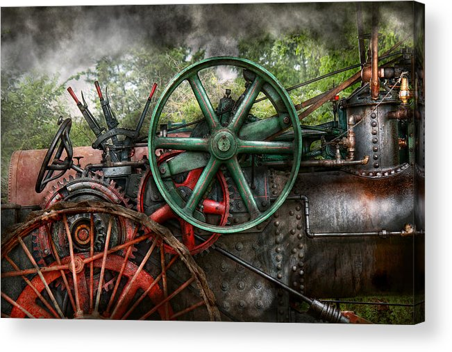 Steampunk Acrylic Print featuring the photograph Steampunk - Machine - Transportation Of The Future by Mike Savad