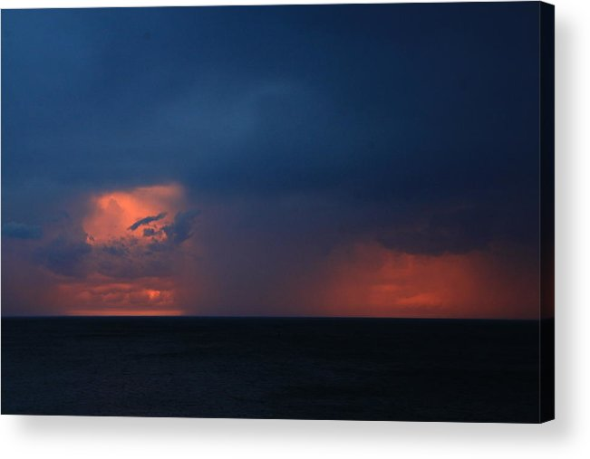 Storm Acrylic Print featuring the photograph Storm Clouds On Lake Superior by Joi Electa