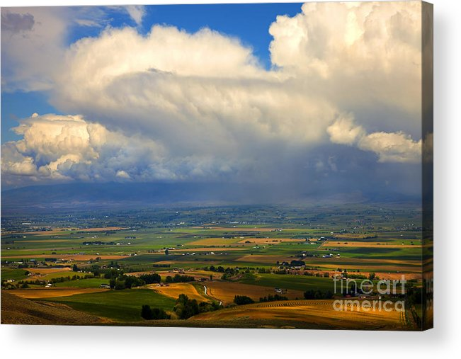 Kittitas Valley Acrylic Print featuring the photograph Storm Over The Kittitas Valley by Mike Dawson