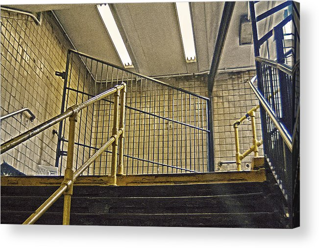 Subway Acrylic Print featuring the photograph Subway Exit In New York by Alex AG