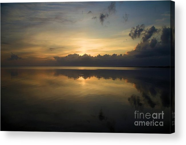 North Carolina Outer Banks Acrylic Print featuring the photograph Sun On The Horizon by Adam Jewell