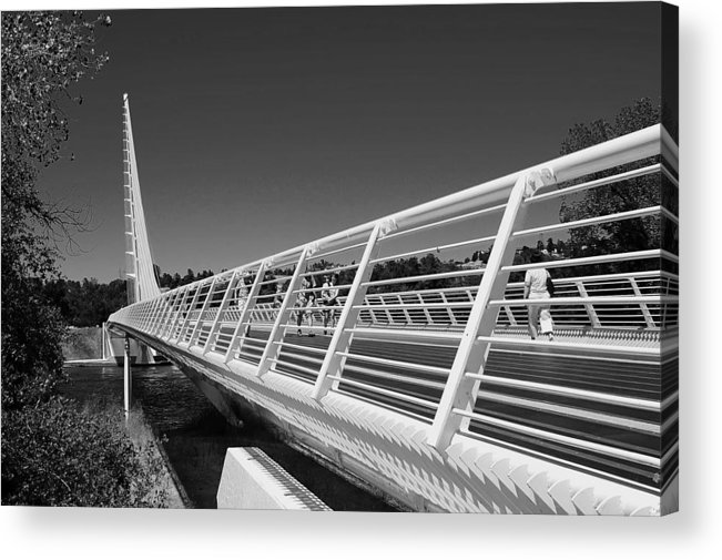 Architectural Photography Acrylic Print featuring the photograph Sundial Bridge One by Andre Salvador