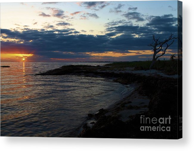 North Carolina Outer Banks Acrylic Print featuring the photograph Sunrise At The Edge by Adam Jewell