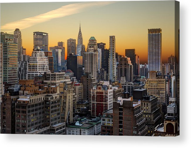 Buildings Acrylic Print featuring the photograph Sunrise In The City II by Janet Fikar