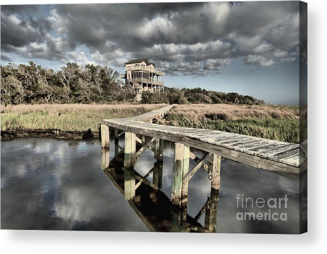 North Carolina Outer Banks Acrylic Print featuring the photograph Sunrise On The Sound by Adam Jewell