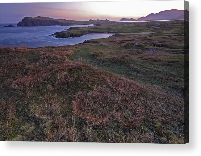 Republic Of Ireland Acrylic Print featuring the photograph Sunrise View Of Clogher Beach by Trish Punch