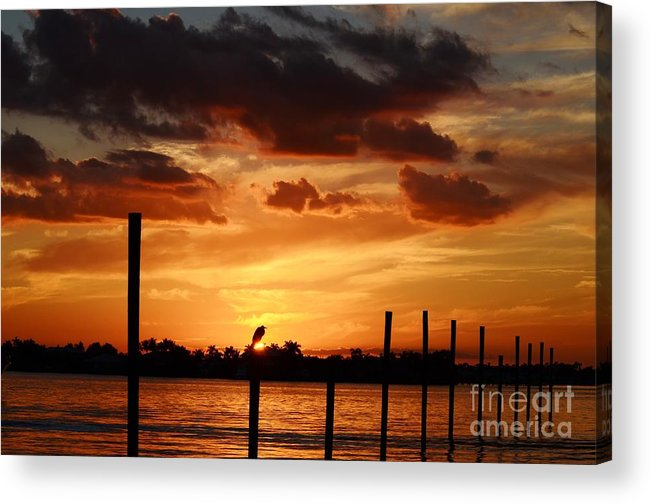 Sunset Acrylic Print featuring the photograph Sunset 1-1-12 by Lynda Dawson-Youngclaus