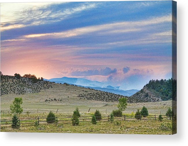 high Park Wildfire; Colorado; Co; Fire; Colorful; ft Collins; fort Collins; decorative Canvas Prints; fine Art; Nature; Landscape; photography Prints; canvas Art; acrylic Prints; stock Images; james Bo Insogna; larimer County; High; Park Acrylic Print featuring the photograph Sunset At The Colorado High Park Wildfire by James BO Insogna