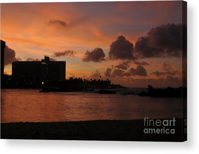 Beach Acrylic Print featuring the photograph Sunset From Street Level by Bella Photography