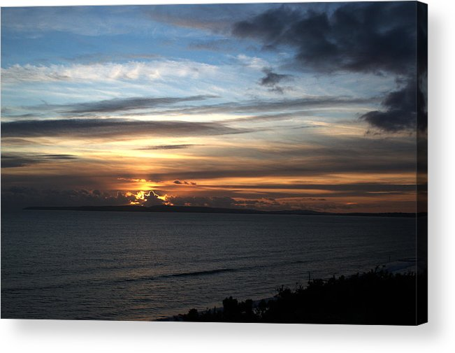 Sunset Acrylic Print featuring the photograph Sunset Over Poole Bay by Chris Day