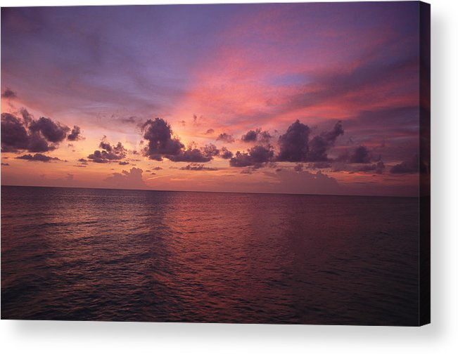 North America Acrylic Print featuring the photograph Sunset Over The Gulf Of Mexico by Paul Damien
