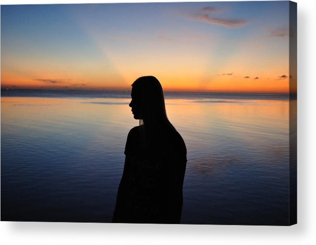 Beach Bunny Acrylic Print featuring the photograph Sunset by Ruben Barbosa