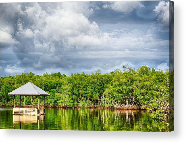 Landscapes Acrylic Print featuring the photograph Surrounded By Water by Mike Rivera