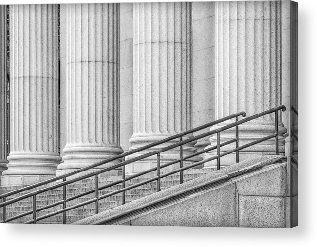 James Farley Post Office Acrylic Print featuring the photograph Symmetry by Susan Candelario