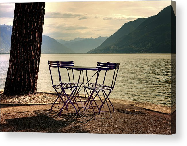 Brissago Acrylic Print featuring the photograph Table And Chairs by Joana Kruse