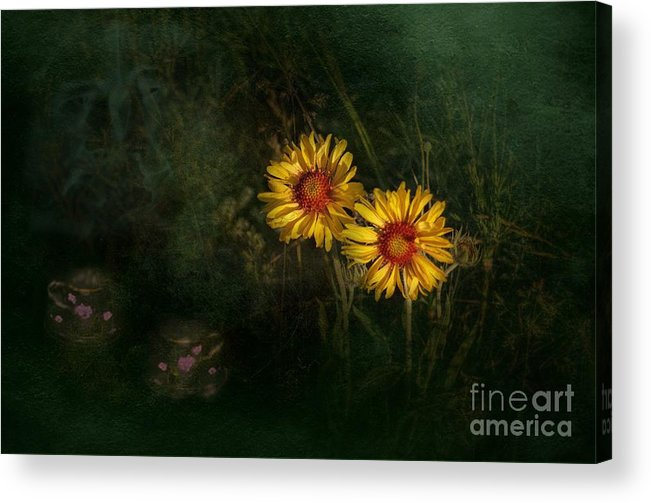 Two Acrylic Print featuring the photograph Tea For Two by The Stone Age