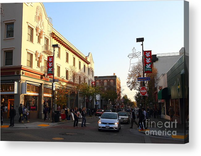 Shop Acrylic Print featuring the photograph Telegraph Avenue At Bancroft Way In Berkeley California . 7d10173 by Wingsdomain Art and Photography