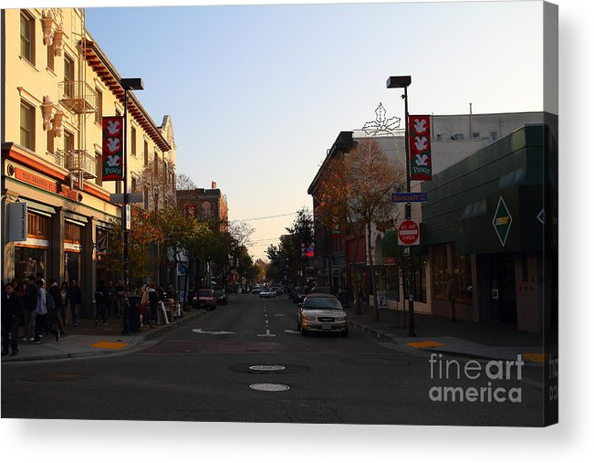 Shop Acrylic Print featuring the photograph Telegraph Avenue At Bancroft Way In Berkeley California . 7d10174 by Wingsdomain Art and Photography