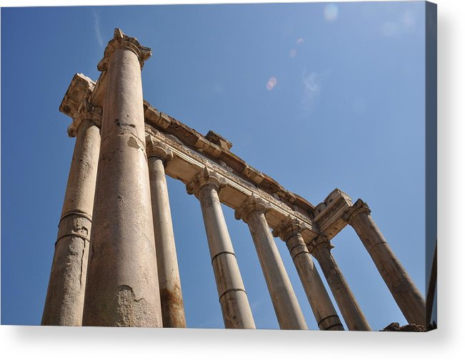 Rome Acrylic Print featuring the photograph Temple Of Saturn by Rich Bodane