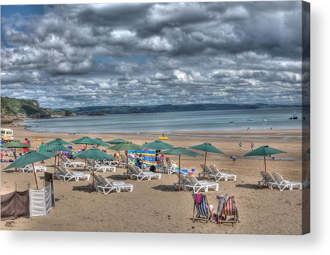 Tenby Harbour Acrylic Print featuring the photograph Tenby North Beach 3 by Steve Purnell