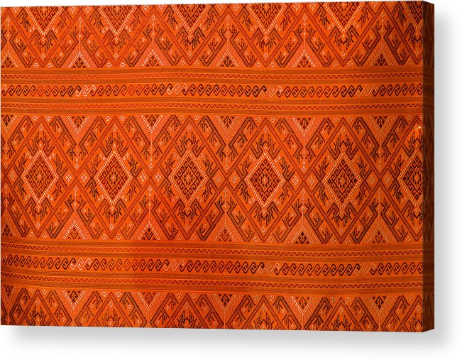 Abstract Acrylic Print featuring the photograph Thai Patterns. by Chatchawin Jampapha