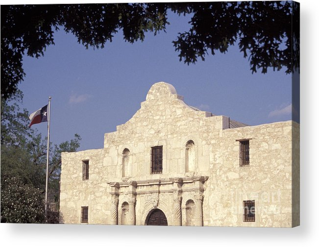 Texas Acrylic Print featuring the photograph The Alamo San Antonio Texas by John Mitchell
