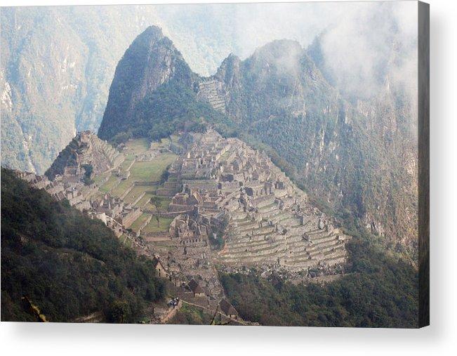 Peru machu Picchu Machu Picchu Andes Inca Acrylic Print featuring the photograph The Ancient City by Harvey Barrison