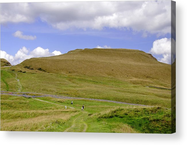 Derbyshire Acrylic Print featuring the photograph The Ascent Of Mam Tor by Rod Johnson