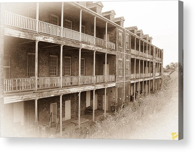 Fort Wayne Acrylic Print featuring the photograph The Barracks by Ron Gage