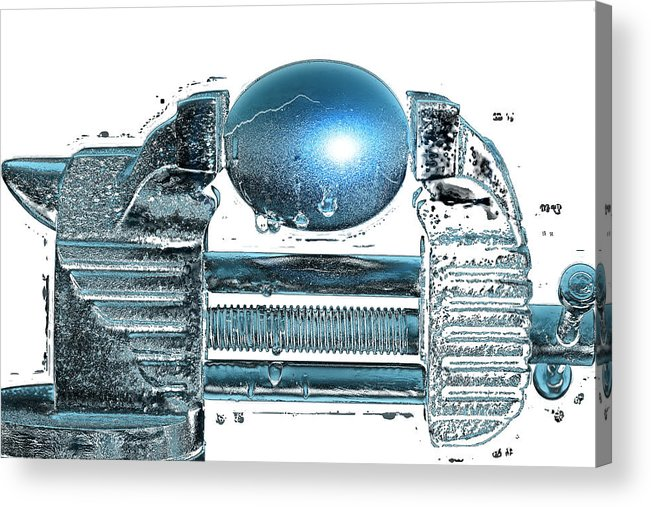 Art Acrylic Print featuring the pyrography The Big Squeeze by Mauro Celotti