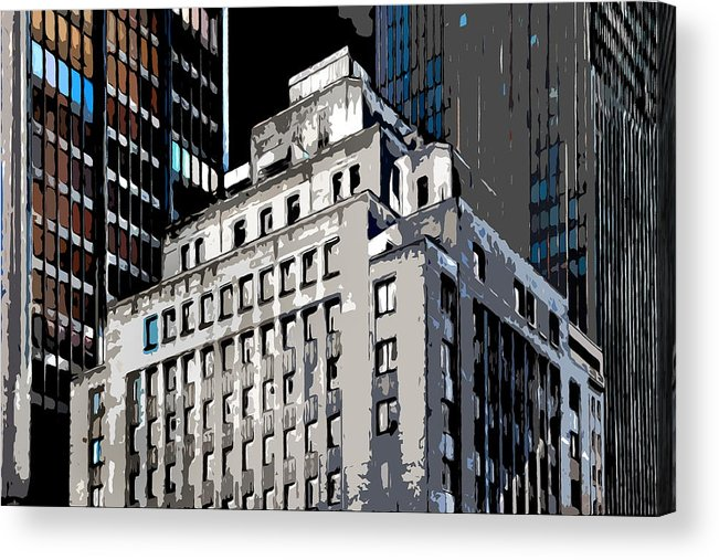 Heart Of The City Acrylic Print featuring the photograph The Center by Burney Lieberman