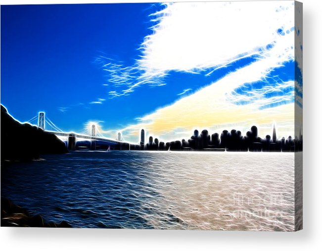 San Francisco Acrylic Print featuring the photograph The City By The Bay by Wingsdomain Art and Photography