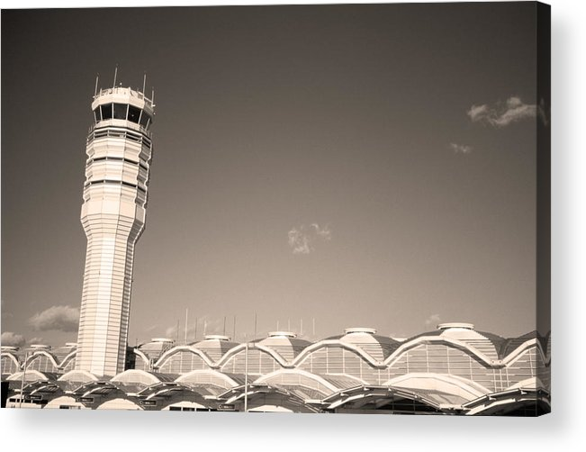 Airport Acrylic Print featuring the photograph The Control Tower And by Stephen Alvarez