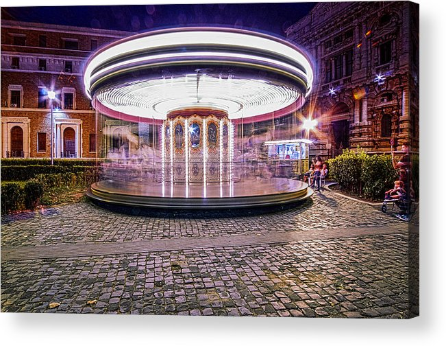 Carousel Acrylic Print featuring the photograph The Crazy Carousel by Alessandro Matarazzo