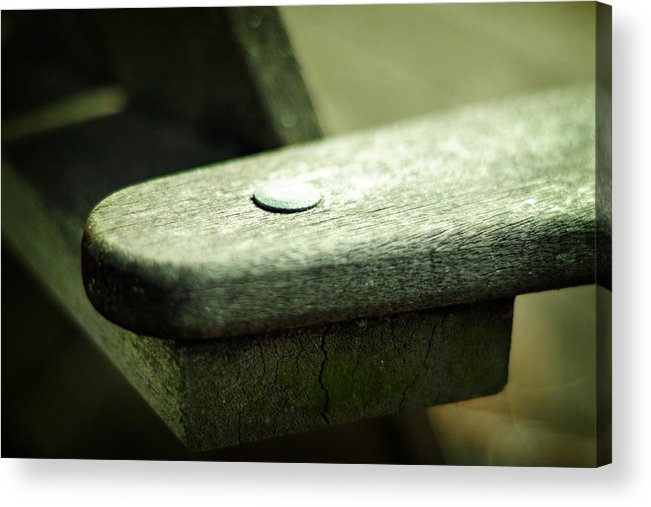 Bench Acrylic Print featuring the photograph The Garden Bench by Rebecca Sherman