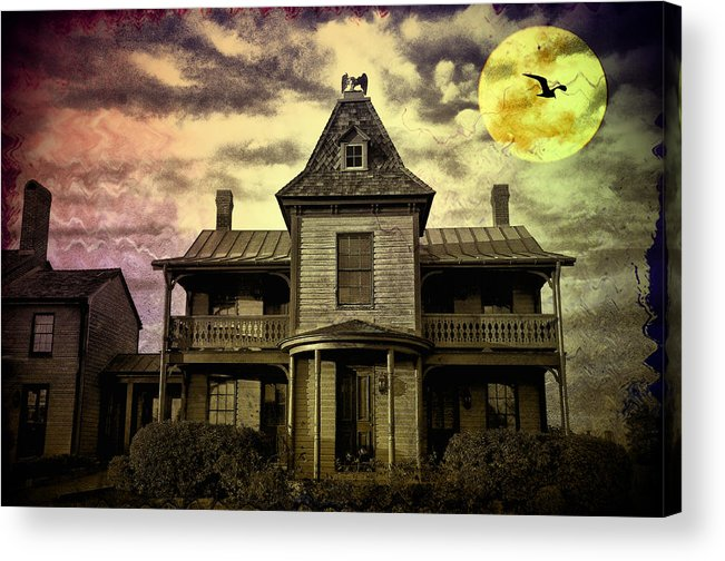 Haunted Acrylic Print featuring the photograph The Haunted Mansion by Bill Cannon