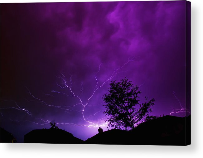Lightning Acrylic Print featuring the photograph The Lightning Spread by Lisa Spencer