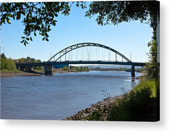 Architecture Acrylic Print featuring the photograph The Scotswood Bridge by Gary Finnigan