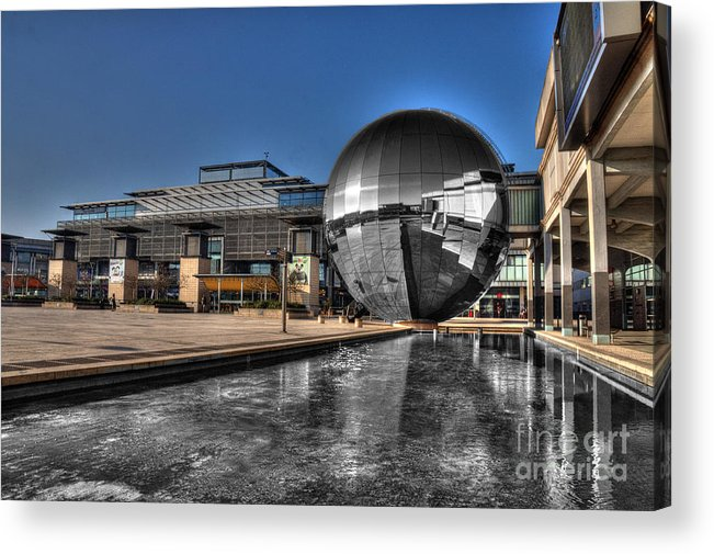 Bristol Acrylic Print featuring the photograph The Sphere At Bristol by Rob Hawkins