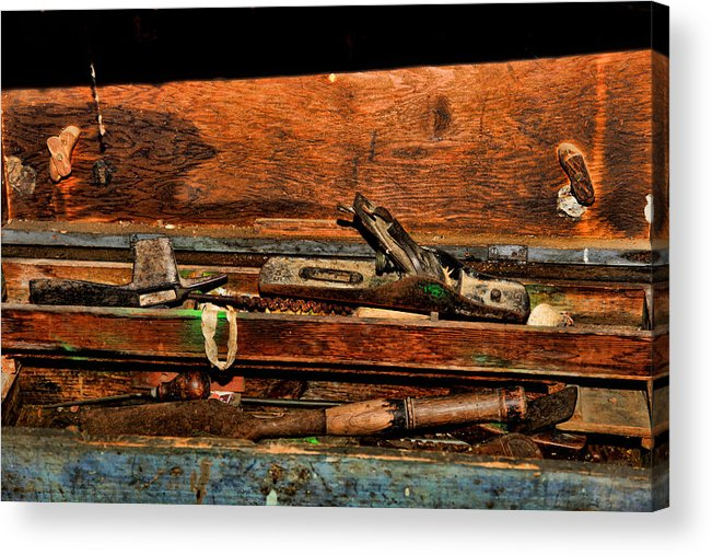 Tools.box Acrylic Print featuring the photograph The Tool Box by Ronald Lafleur