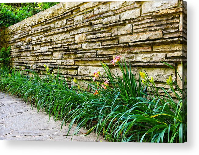 The Wall Acrylic Print featuring the photograph The Wall by Rachel Cohen