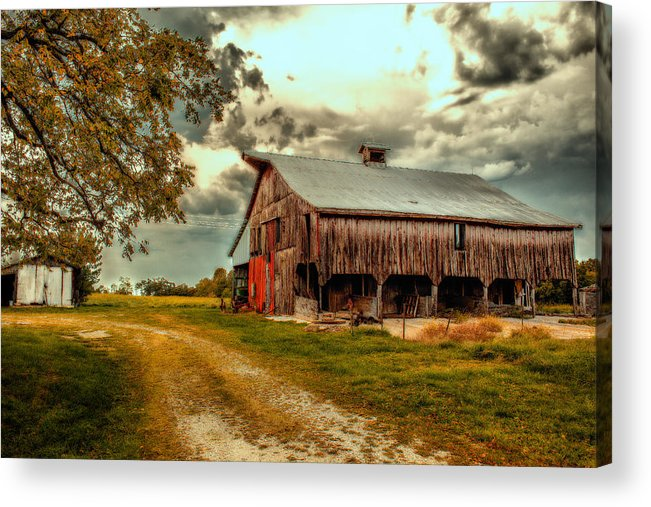 Barn Acrylic Print featuring the photograph This Old Barn by Bill Tiepelman