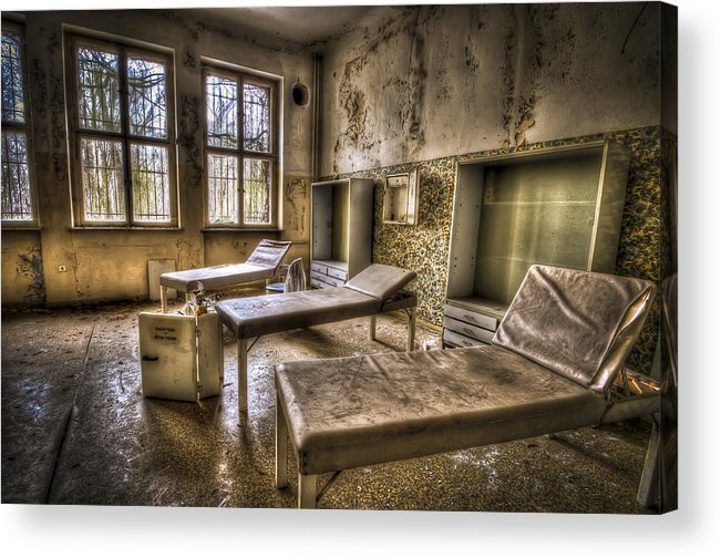 Window Acrylic Print featuring the photograph Three Beds Horror by Nathan Wright