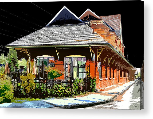 Railway Station Acrylic Print featuring the photograph Ticket Store by Burney Lieberman