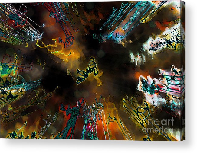 Abstract Acrylic Print featuring the photograph Time Flies by Jeff Breiman