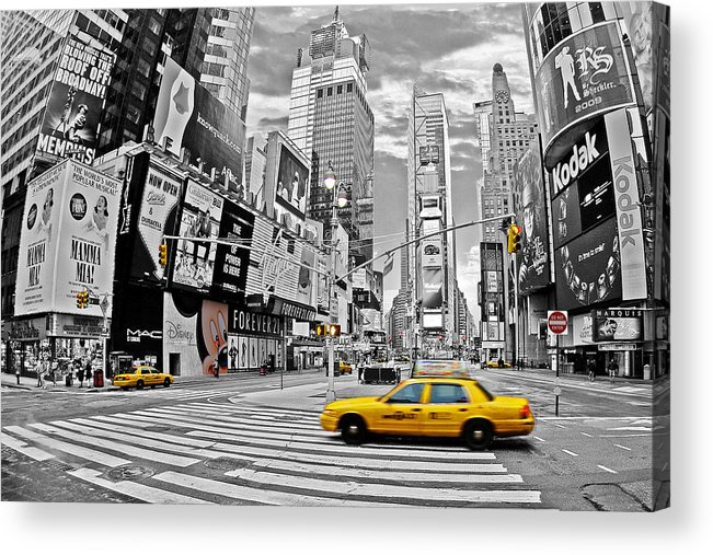 Times Square Acrylic Print featuring the photograph Times Square - New York by Marcel Schauer