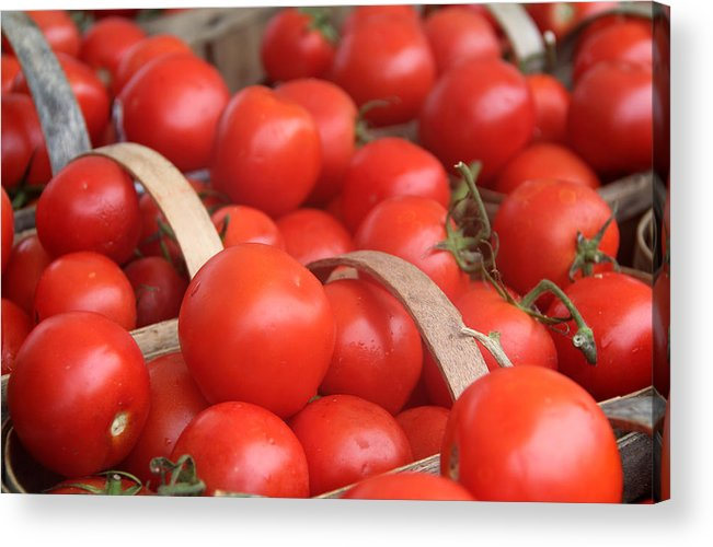 Background Acrylic Print featuring the photograph Tomatoes by Kim French