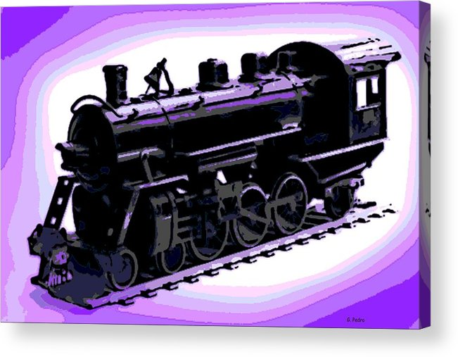 Antique Acrylic Print featuring the photograph Toy Train by George Pedro