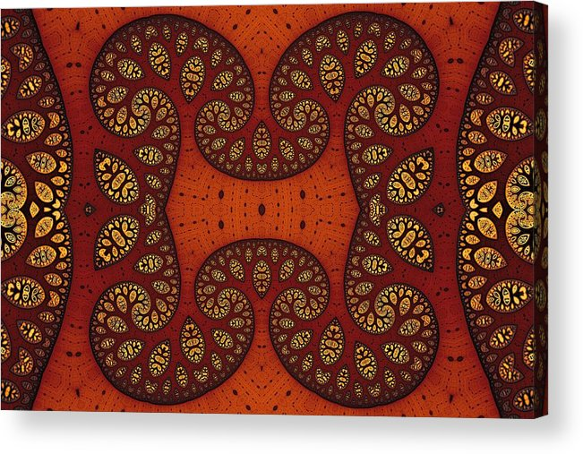 Fractal Acrylic Print featuring the digital art Trees In Shades Of Russet by Mark Eggleston